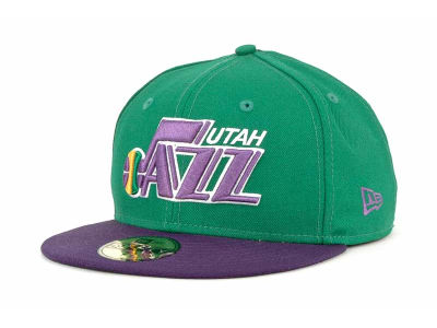 Utah Jazz New Era NBA Hardwood Classics BC 2 Tone 59FIFTY Cap
