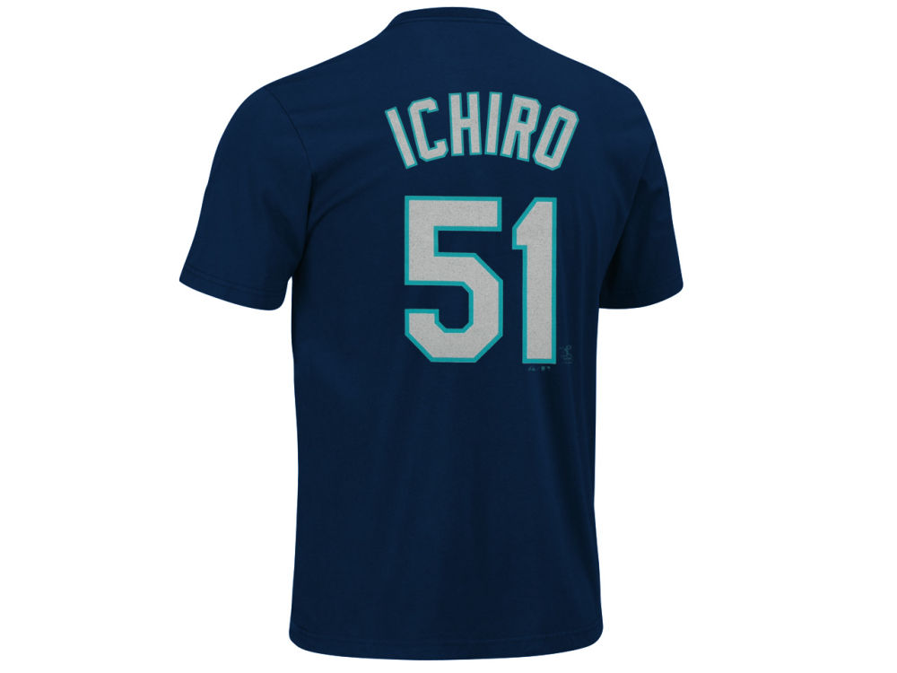 a5637f8f443 ... closeout seattle mariners ichiro suzuki majestic mlb mens player t shirt  b1994 ad47d