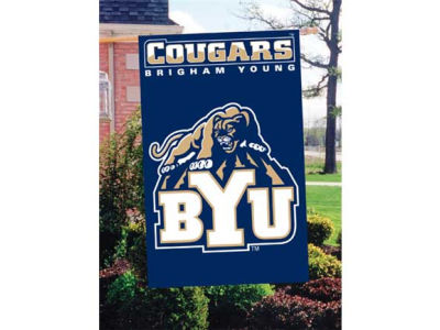 Brigham Young Cougars Applique House Flag