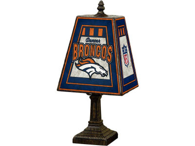 Denver Broncos Art Glass Table Lamp