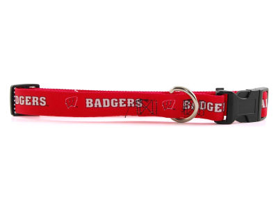Wisconsin Badgers Large Dog Collar