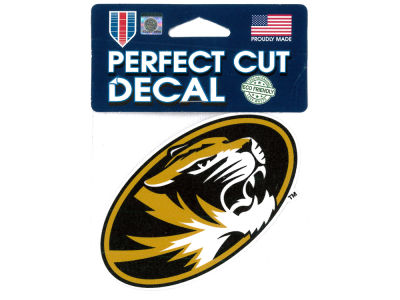 Missouri Tigers 4x4 Die Cut Decal Color