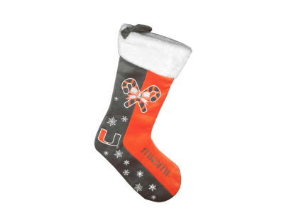 Miami Hurricanes Team Logo Stocking