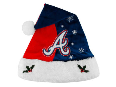 Atlanta Braves Team Logo Santa Hat