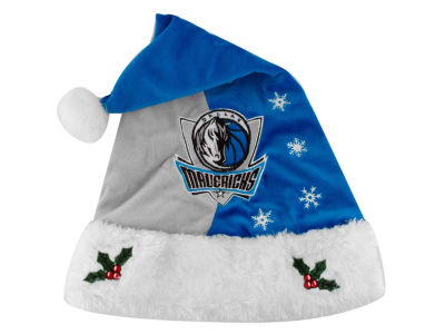 Dallas Mavericks Team Logo Santa Hat