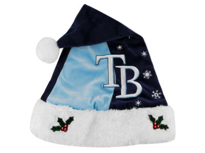 Tampa Bay Rays Team Logo Santa Hat