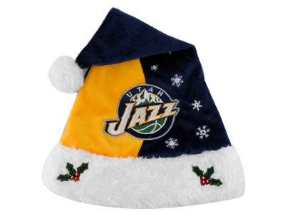 Utah Jazz Team Logo Santa Hat