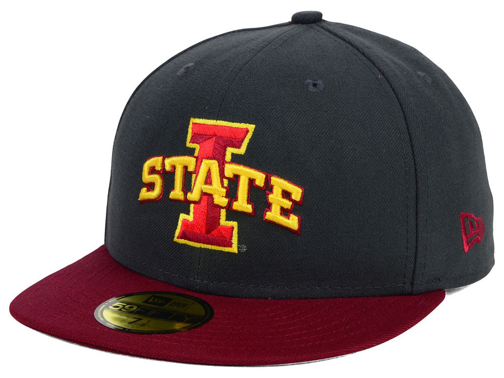 100% authentic dbe10 2f824 Iowa State Cyclones New Era NCAA 2 Tone Graphite and Team Color 59FIFTY Cap    lids.com