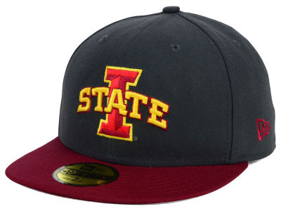 Iowa State Cyclones New Era NCAA 2 Tone Graphite and Team Color 59FIFTY Cap