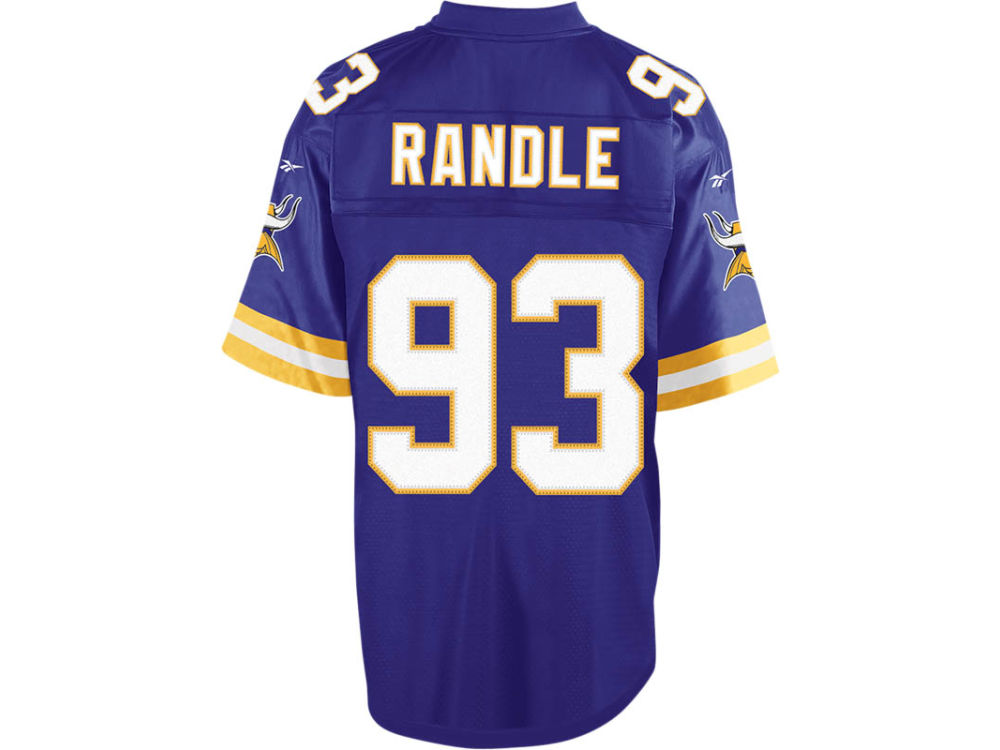 Minnesota Vikings John Randle Reebok NFL Retired Player Equipment Jersey  1213cb5bb