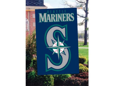 Seattle Mariners Applique House Flag
