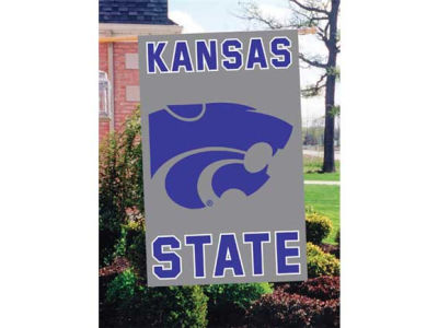 Kansas State Wildcats Applique House Flag