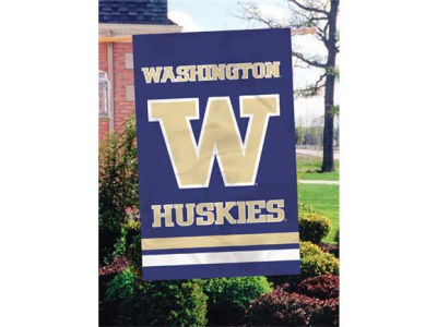 Washington Huskies Applique House Flag