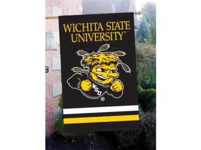 Wichita State Shockers Applique House Flag