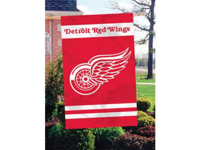Detroit Red Wings Applique House Flag