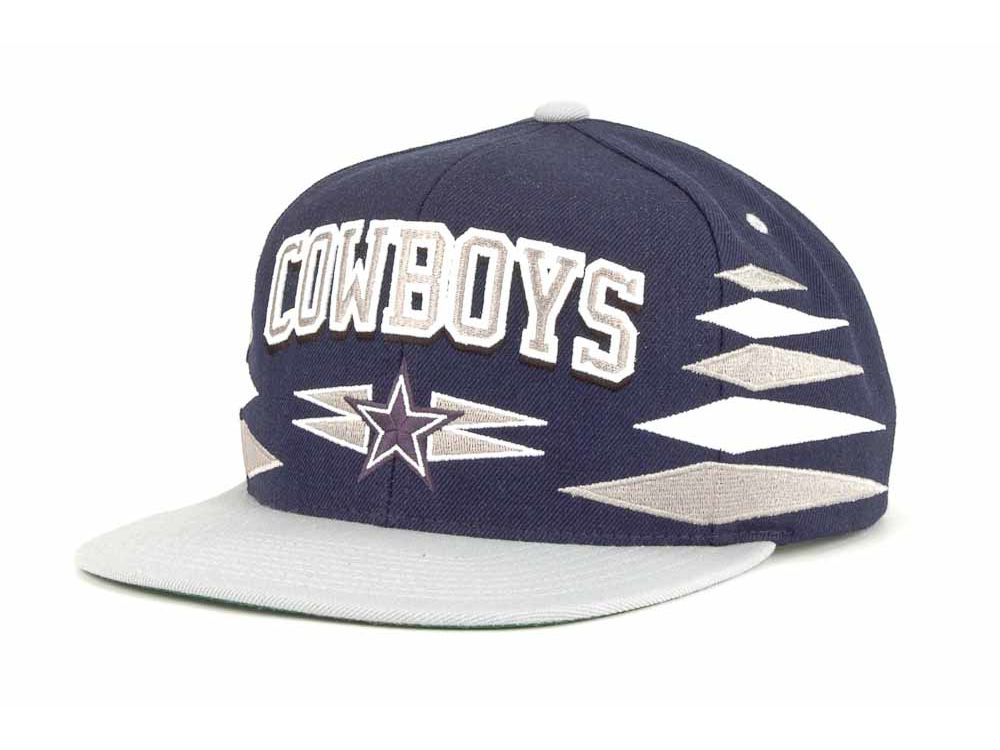 a7deb544a31 Dallas Cowboys Mitchell   Ness Mitchell and Ness NFL Diamond Snapback Cap