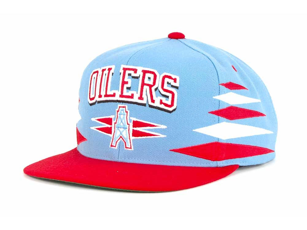Houston Oilers Mitchell   Ness Mitchell and Ness NFL Diamond Snapback Cap  ed33ccec18b8