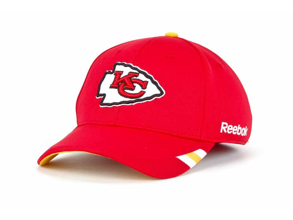 Kansas City Chiefs Reebok NFL Coaches Sideline Flex Cap  b5b943eec