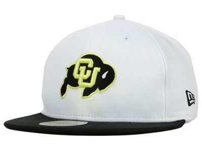 Colorado Buffaloes New Era NCAA White 2 Tone 59FIFTY Cap