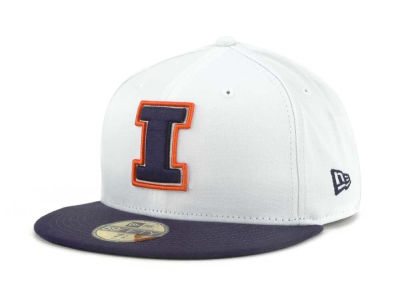 Illinois Fighting Illini New Era NCAA White 2 Tone 59FIFTY Cap