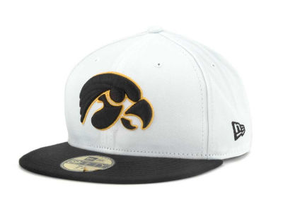 Iowa Hawkeyes New Era NCAA White 2 Tone 59FIFTY Cap