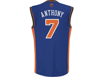 New York Knicks Carmelo Anthony adidas NBA Rev 30 Replica Jersey