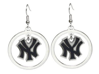 New York Yankees Fashion Hoop Earrings-Aminco