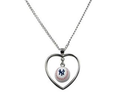 New York Yankees Mini Baseball Heart Necklace
