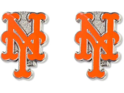 New York Mets Logo Post Earrings