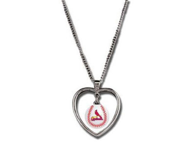 St. Louis Cardinals Mini Baseball Heart Necklace