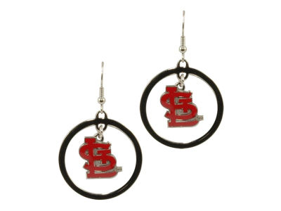 St. Louis Cardinals Fashion Hoop Earrings-Aminco