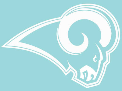 "Los Angeles Rams Die Cut Decal 8""x8"""