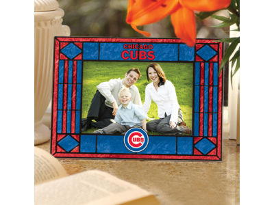 Chicago Cubs Art Glass Picture Frame