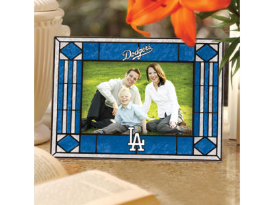Los Angeles Dodgers Art Glass Picture Frame