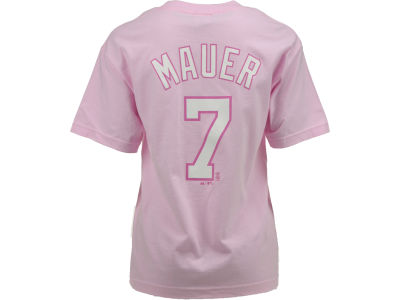 Minnesota Twins Joe Mauer Majestic MLB Youth Player T-Shirt