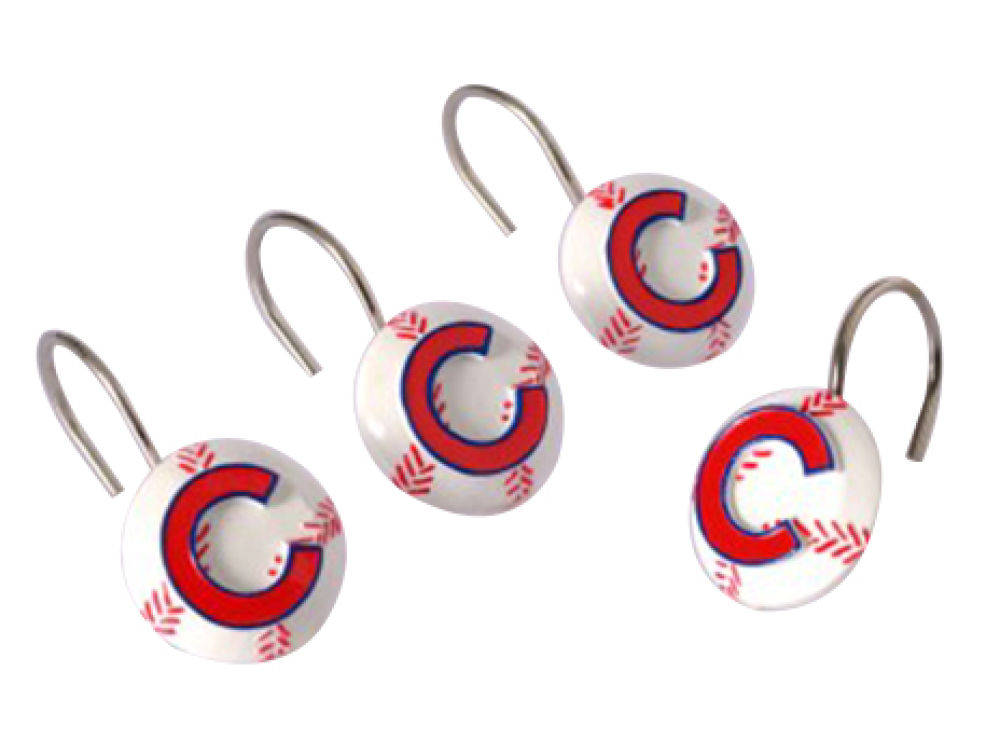 Chicago Cubs Shower Curtain Hooks