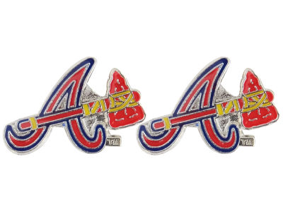 Atlanta Braves Logo Post Earrings