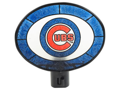 Chicago Cubs Art Glass Night Light