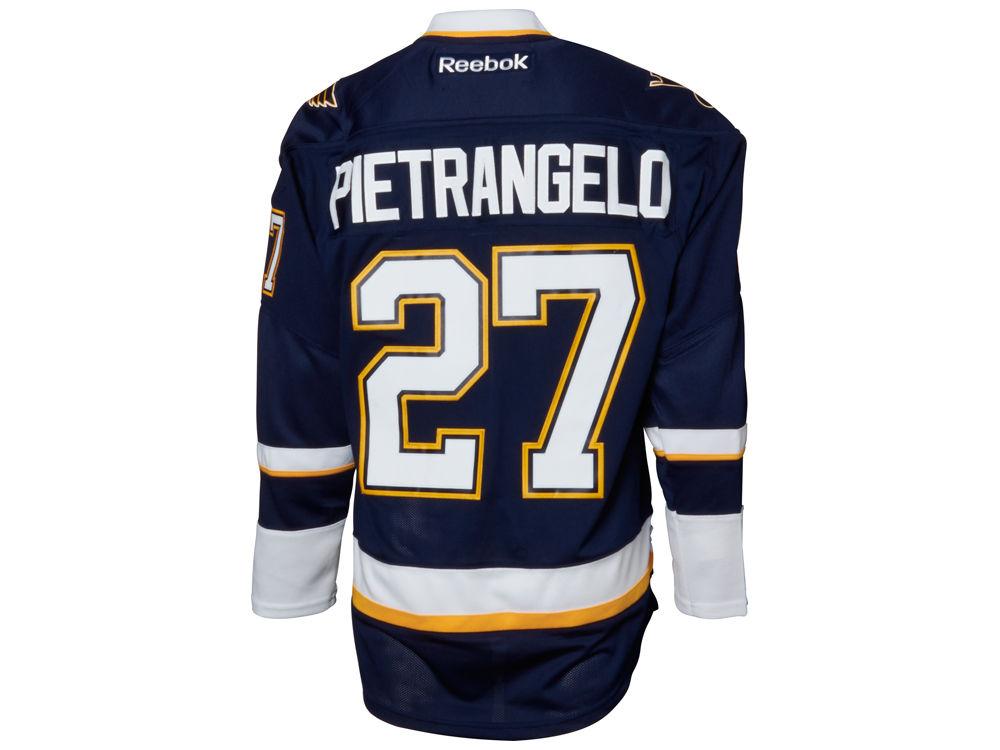9df88584a St. Louis Blues Alex Pietrangelo Reebok NHL Men s Premier Player Jersey