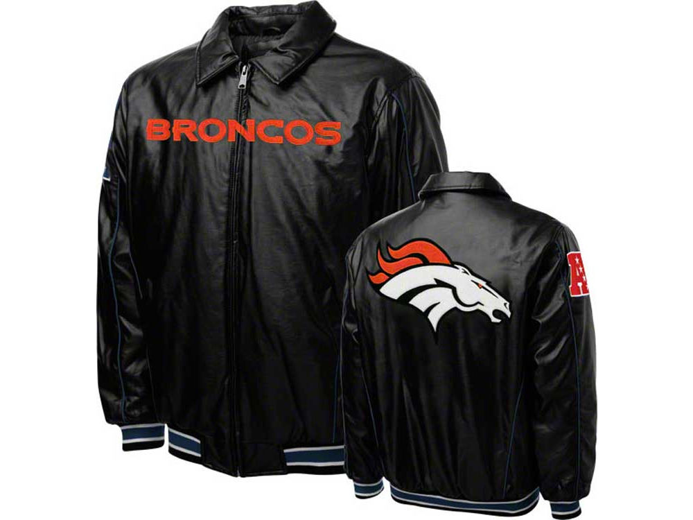 4c1af42f3 Denver Broncos NFL Men s Faux Leather Jacket