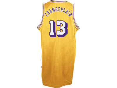 Los Angeles Lakers Wilt Chamberlain adidas NBA Men's Retired Player Swingman Jersey