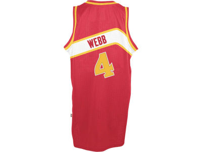 Atlanta Hawks Spud Webb adidas NBA Men's Retired Player Swingman Jersey