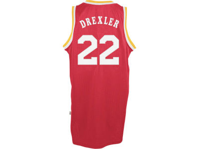 Houston Rockets Clyde Drexler adidas NBA Men's Retired Player Swingman Jersey