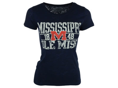 Ole Miss Rebels Blue 84 NCAA Women's Browser T-Shirt