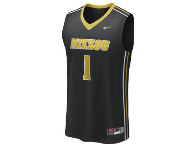 Missouri Tigers Mizzou #1 Nike NCAA Twill Basketball Jersey