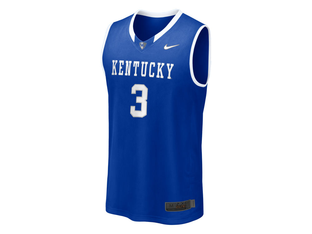 Kentucky Wildcats  3 Nike NCAA Twill Basketball Jersey  1e4e461cd