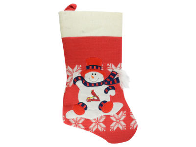 St. Louis Cardinals Stocking 24inch Fabric Snowman
