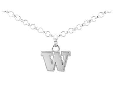 Washington Huskies NCAA Silver Charm Bracelet