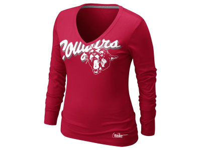 Washington State Cougars Nike NCAA Womens Long Sleeve Vault Top