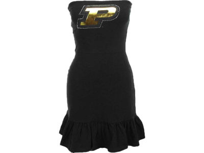 Purdue Boilermakers Nike NCAA Womens Strapless Ruffle Dress